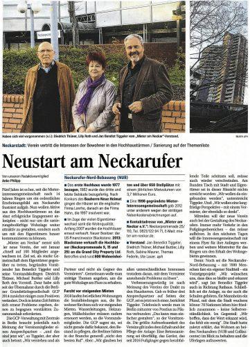 """Artikel im """"Mannheimer Morgen"""""""